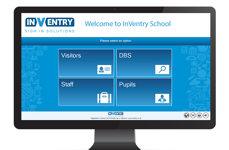 InVentry sign in product screen