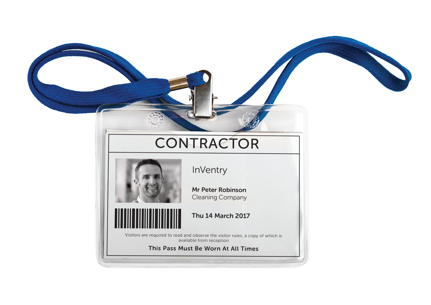 InVentry Contractor Management ID Cards
