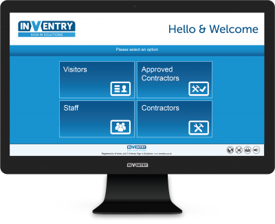 InVentry Sign In Screen