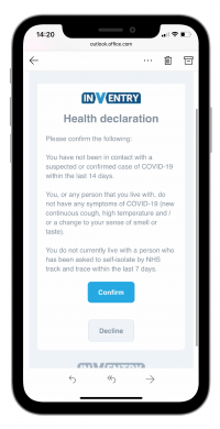 Visitor Health Declarations