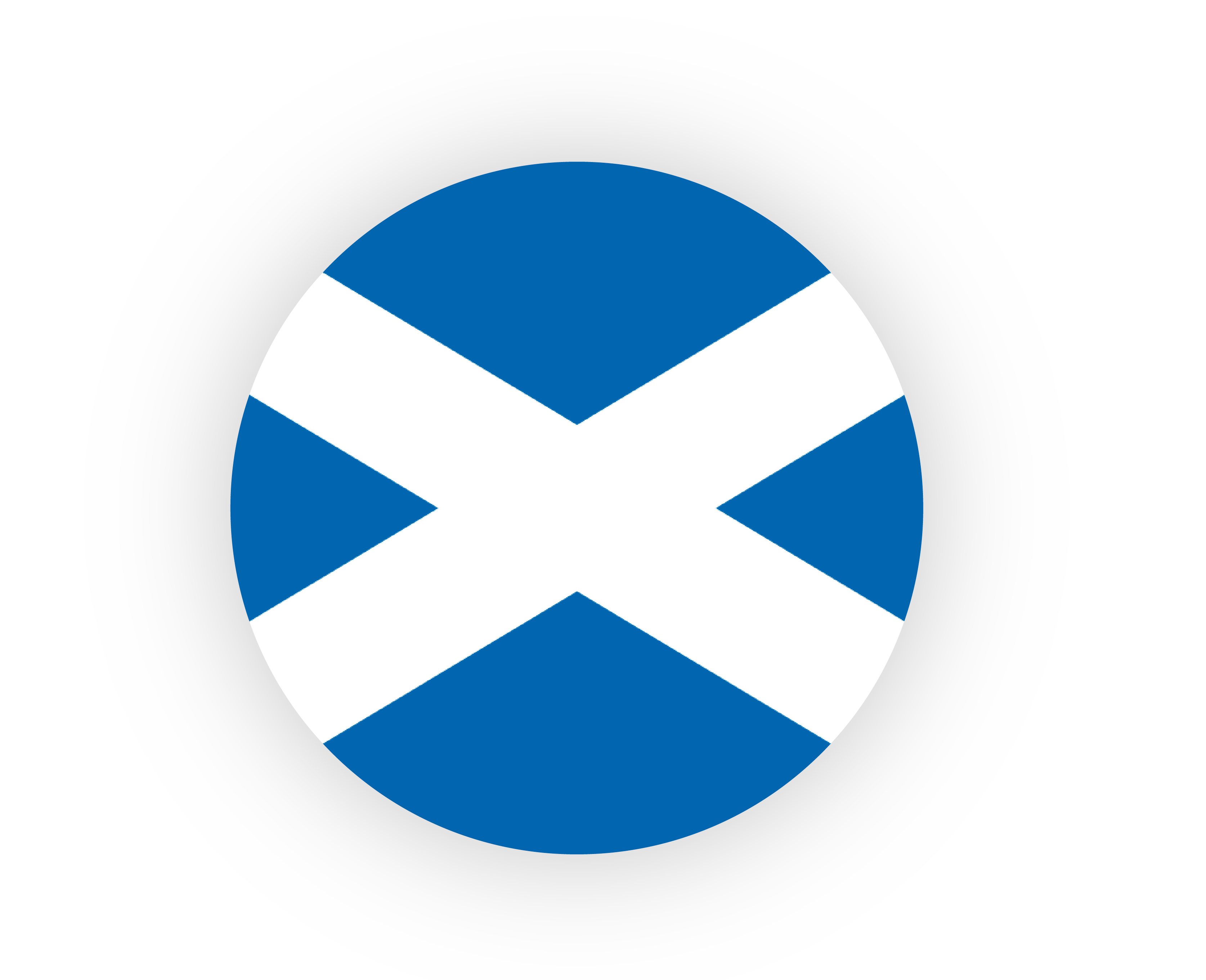 Scottish Flag in Circle