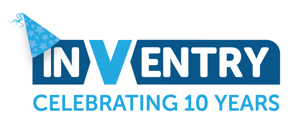 InVentry's Birthday Logo Celebrating 10 Years